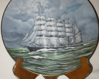"""From the ten plate series """"Legendary Ships of the Seas"""" collectors plate """"The Copenhagen"""""""