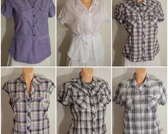vintage blouses woman lot x 10