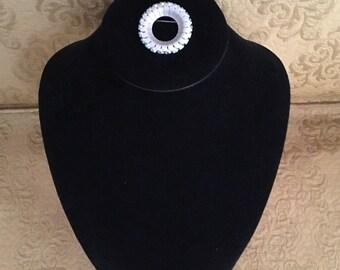 Circle Pin with Rhinestones