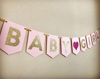 Baby Shower Banner, Girl Baby Shower Banner, Baby Shower Girl Banner, Baby Girl Banner, Girl Baby Shower Decorations