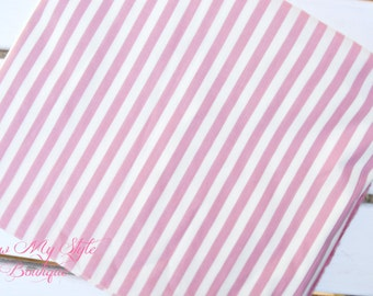 Fabric SALE-Robert Kaufman Co./ Pink and Cream Stripe/Quilters Fabric yardage/Fabric by the yard