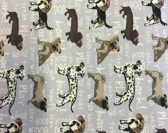 Fabric Freedom Dogs Collection  FF253 in Lilac by the half metre