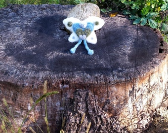 Gnome Wings Fairy - Cumulus, OOAK needle felted fairy doll
