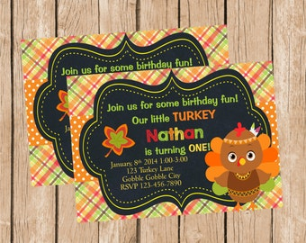 Cute Turkey Invitation