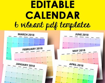 calendar 2018 monthly template