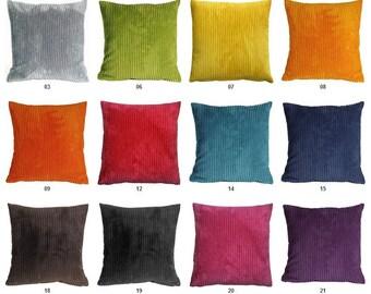 Wide Wale Corduroy Square Pillows 18x18