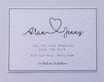 Minimalistic save the date wedding stationery wedding invitations