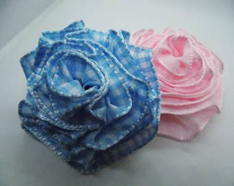 LARGE Single Ribbon Pink or Blue Flower for Baby Shower