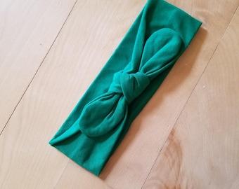 Green Infant Knot Headband