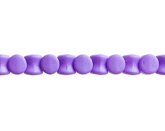 44 Pieces Czech Glass Pellet Beads - Silk Matte Violet 4x6mm (PG96476)