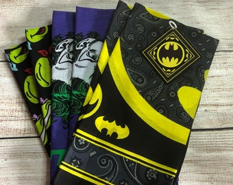 Bandana Batman, Joker, Ninja Turtle Hat Cap Lot Of 6