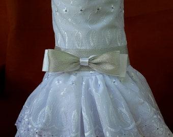 White/Silver Wedding Dress