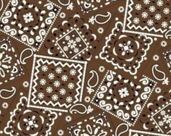 Bandana Fabric- Brown Bandana Fabric