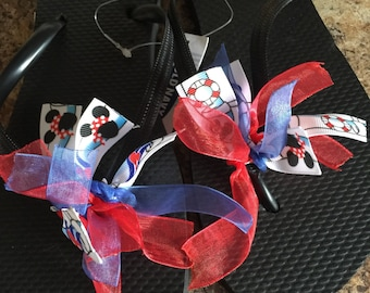 DCL Disneycruise aquaduck theme flip flops women's any size