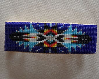 Beaded Feather Barrette