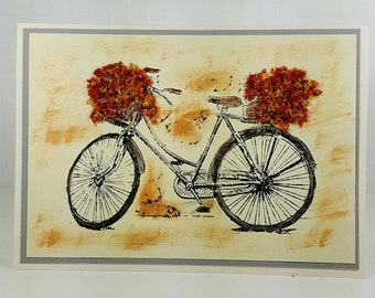 Get Well Card - Bicycle Get Well Card - Flower Soft Greeting Card