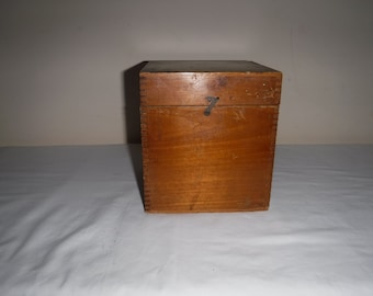 Vintage wooden box probably for Camera film
