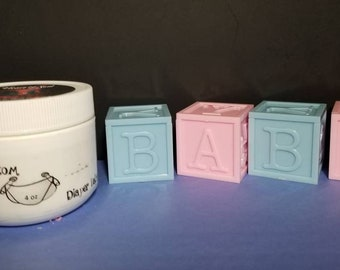 Natural Organic Handmade Baby Bottom Diaper Cream-Baby Rash Cream-Baby Diaper Balm-Diaper Ointmint-Baby Balm-Baby eczema cream-Healing Balm