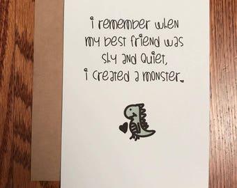 Monster Best Friend Greeting Card