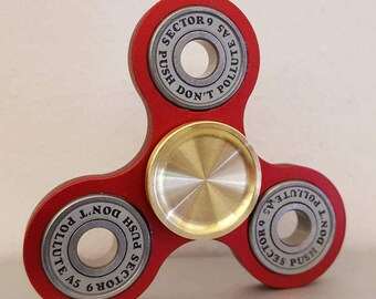 Fidget Spinner DEAL: BLOODY VALENTINE edc spinner with Aluminum Frame & Full Ceramic bearing and Upgaded 25mm Brass Caps! Great Deal!