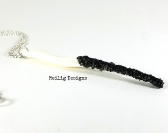 Coyote Baculum Necklace - Coyote Penis Bone Necklace - Faux Druzy - Penis Bone Necklace - Penis Necklace - Coyote Necklace - Taxidermy
