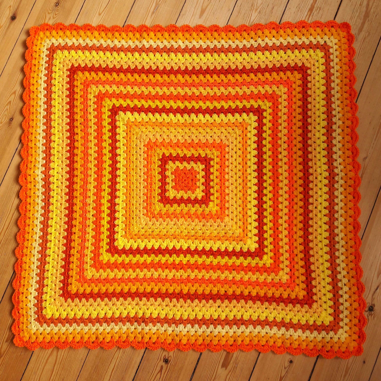 Gelb häkeln Baby Decke Orange häkeln Baby Afghan Decke IN