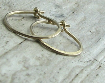 hoop earrings, small hoops, second hole earrings, gold filled jewelry, cartilage piercing 1/2 inch