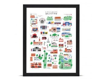 A Walk Around Brixton - Giclée Art Print