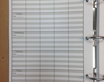 Teacher Planner Refill Pages