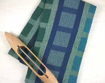 LADDERS AND SQUARES 100% Cotton Handwoven Dish Towel