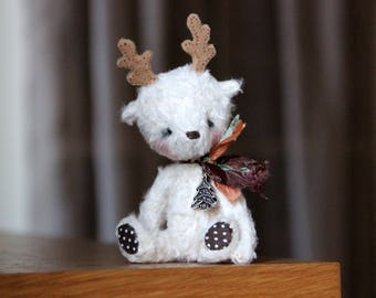 Artist teddy - Toy deer Oliver - Christmas deer - OOAK teddy - Raindeer - Christmas gift - Christmas decorations - Soft toy - Stuffed toy