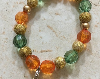 Individual Custom Bracelet (2018 charm-Orange and Green)