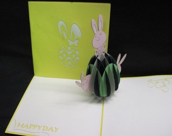 3-D Easter Pop-Up Card, easter popup, easter greeting card, easter card