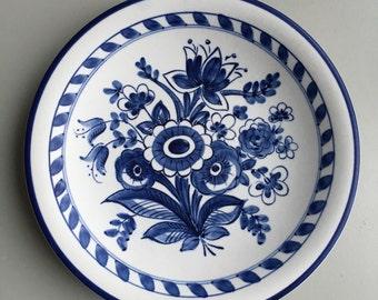 Rörstrand 1930s Scandinavian dinnerware mid century ceramic dinner plate - by Lars Thorén - hand painted stoneware