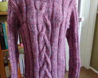 Rose colour Cable knit Sweater