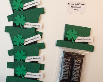 Set of 8 Personalized St. Patrick's Day Favors, St. Patrick's Day Treat Bags, Irish Party Favors, Leprechaun, St. Patrick's Day