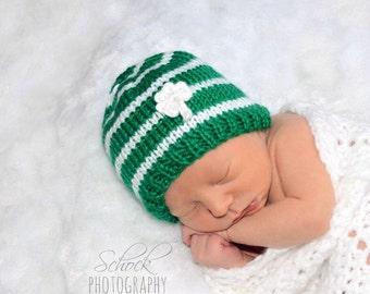 Shamrock Baby Hat • St. Patrick's Day Baby Hat • Shamrock Newborn Hat • Shamrock Newborn Photo Prop • Irish Baby Hat • Baby Shower Gift
