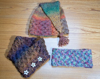 Criss-Cross Hat, Headband and Cowl Knitting Pattern