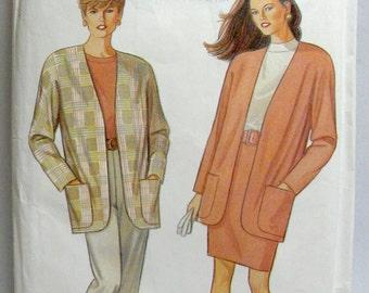 SIMPLICITY 7955, Uncut, Misses' Pants, Skirt, and Unlined Jacket. Sizes PT-XL.