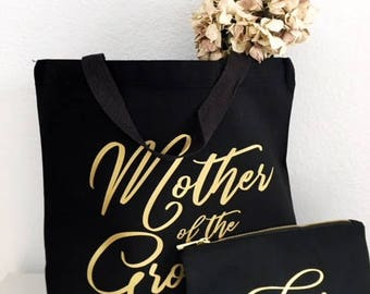 Mother of the Groom gifts - Gold foil - Mother of the Groom - Tote