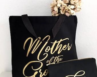 Mère du marié cadeaux - feuille d'or - mère du marié - fourre-tout