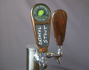 Beer tap handle, Wood with chalkboard, 6 inches tall
