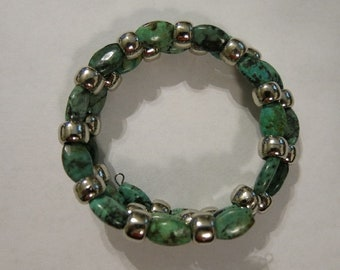 African (Turquoise) Jasper Memory Wire Bracelet