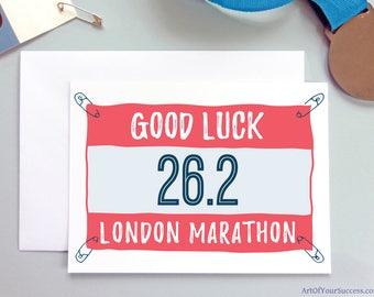 London Marathon Good Luck Card, Good Luck London Marathon card, London Marathon, 26.2, marathon runner card, marathon gift