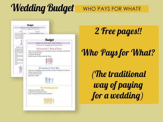 Wedding budget planner kit printable wedding budget instant download junglespirit Images