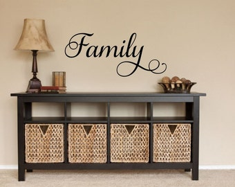 Family Decal Family Wall Decal Picture Wall Decal Family Vinyl Decal Family Word  Decal Vinyl Family