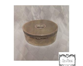 Box Lidded oval chrome G.C.