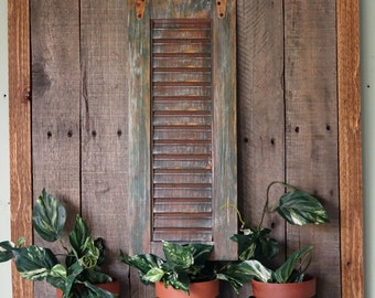 Shutter Planter, Shutter Wall Decor, Shutter Plant Holder, Shutter Art