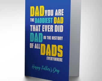 Fathers Day Card -Funny Gift Fathers Day Dad Blank Card CP2817
