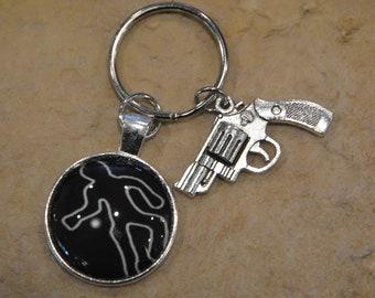 Crime Scene Keychain